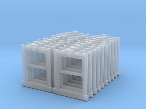 Sash Window X1 - 900 X 1200 X 20 - 2mm in Smooth Fine Detail Plastic