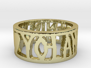 #NINJA <3 YO-LANDI Ring Size 4.5 in 18k Gold