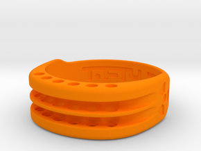 US17 Ring XI: Tritium, Six Holes in Orange Processed Versatile Plastic
