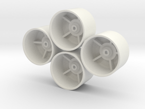 Losi Micro 1/24 SCT/Rally Dish Wheels in White Natural Versatile Plastic