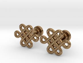 Celtic Cufflinks in Natural Brass