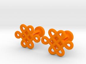 Celtic Cufflinks in Orange Processed Versatile Plastic