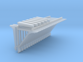 PEIR 1904 Booking Stn O Scale Roof Brkt Corner Tri in Smooth Fine Detail Plastic
