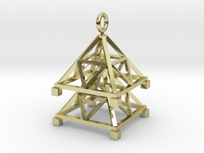 Tetrahedron Jhumka - Indian Bell earrings in 18k Gold Plated Brass