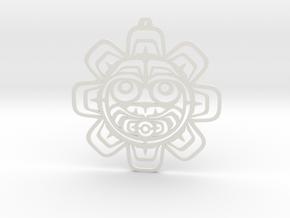 Northwest Design Sun Mask Wall Hanger / Ornament in White Strong & Flexible