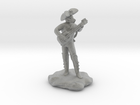 Dragonborn Pirate Bard with Lute and Crossbow in Metallic Plastic