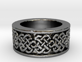 Celtic Knot Ring 3 Ring Size 10 in Fine Detail Polished Silver