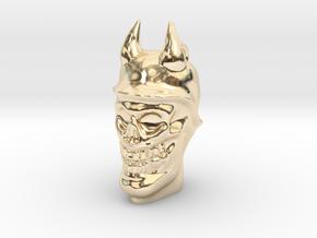 Devil soldier skull pendant in 14k Gold Plated Brass