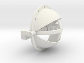 100mm Eye Mech in White Natural Versatile Plastic