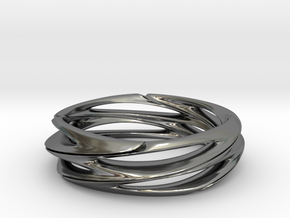 Double Swirl size 7.5 in Fine Detail Polished Silver