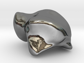 Human Left Talus in Fine Detail Polished Silver