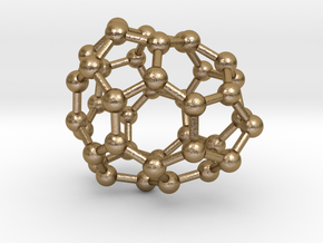 0118 Fullerene C40-12 c1 in Polished Gold Steel