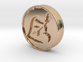Animal Crossing Leaf Coin in 14k Rose Gold Plated Brass
