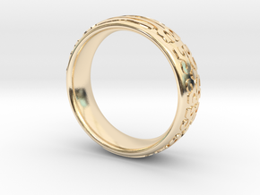 Knight Of The Ring in 14k Gold Plated Brass