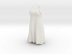 Strappy Little Dress in White Natural Versatile Plastic