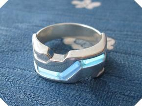 US10.5 Ring XXI: Tritium (Silver) in Polished Silver