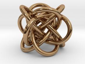 Tetraknot Pendant in Polished Brass