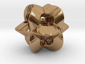 Pendant-c-4-3-8-p1o in Polished Brass