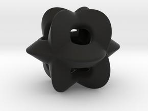 Pendant-c-4-3-8-p1o in Black Natural Versatile Plastic