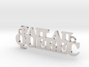 Fait au QUEBEC Pendant in Rhodium Plated Brass