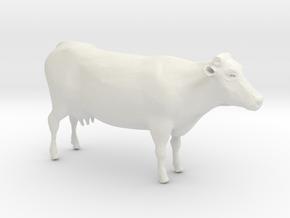 Cow in White Natural Versatile Plastic