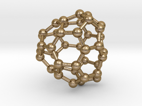 0125 Fullerene C40-19 c2 in Polished Gold Steel