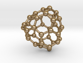0124 Fullerene C40-18 c2 in Polished Gold Steel
