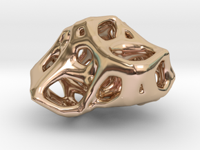 Organic Voronoi Pendent in 14k Rose Gold Plated