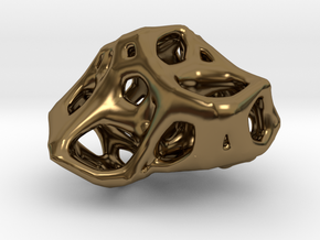 Organic Voronoi Pendent in Polished Bronze