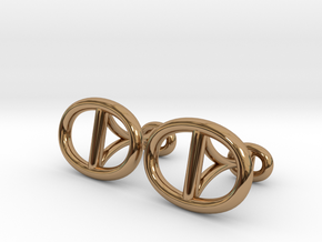 Chain Cufflinks in Polished Brass