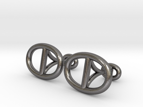 Chain Cufflinks in Polished Nickel Steel