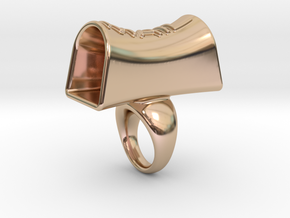 Message of love 19 in 14k Rose Gold Plated Brass