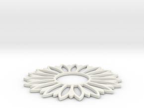 Pendant Flower 7 in White Natural Versatile Plastic