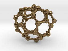0112 Fullerene C40-6 c1 in Polished Bronze