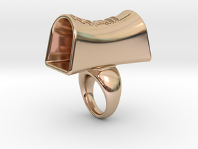 Message of love 20 in 14k Rose Gold Plated Brass