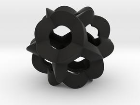 Pendant-c-6-5-30-p1o in Black Natural Versatile Plastic