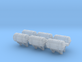 1:72 Life Boat Canister on Wall - Set of 6 in Smooth Fine Detail Plastic