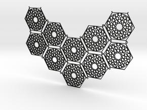 J&M Islamic Inspired Geometric Half Necklace in Black Natural Versatile Plastic