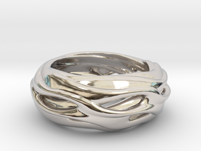 Seraphina in Rhodium Plated Brass