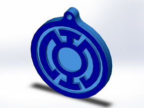 Blue Lantern Key Chain in Full Color Sandstone