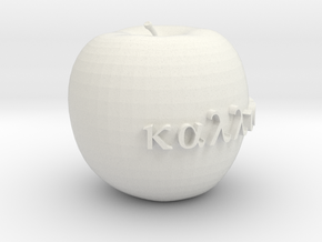 Apple of Discord in White Natural Versatile Plastic