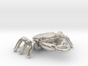 Crabs pendant in Rhodium Plated Brass
