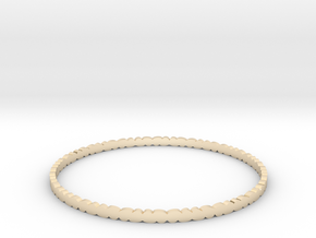 Thin Pebble Bangle in 14k Gold Plated Brass: Small