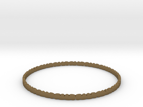 Thin Pebble Bangle in Natural Bronze: Small
