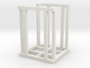 Discovery Stacker in White Natural Versatile Plastic