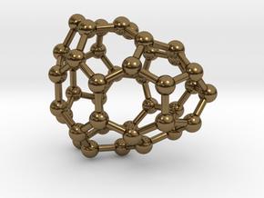 0113 Fullerene C40-7 cs in Polished Bronze