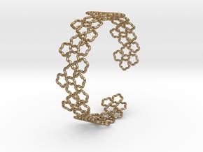 Flower Bracelet 2 in Polished Gold Steel