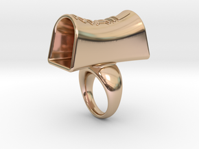 Message of love 29 in 14k Rose Gold Plated Brass