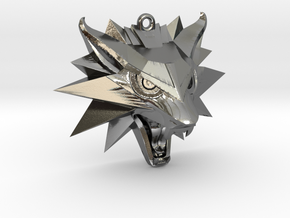 The Witcher 3 Medallion (Custom Design) in Polished Silver