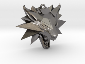 The Witcher 3 Medallion (Custom Design) in Polished Nickel Steel